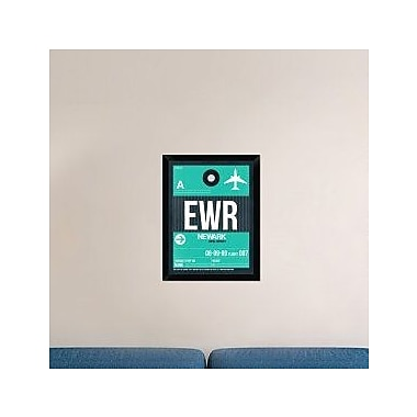 Naxart 'EWR Newark Luggage Tag II' Framed Graphic Art Print on Canvas; 26'' H x 20'' W x 1.5'' D