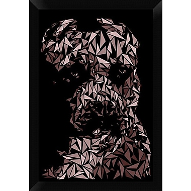 Naxart 'Pitbull' Framed Graphic Art Print on Canvas; 26'' H x 18'' W x 1.5'' D