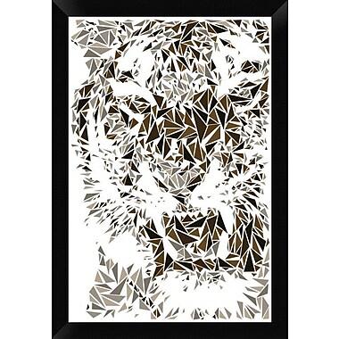 Naxart 'Tiger' Framed Graphic Art Print on Canvas; 26'' H x 18'' W x 1.5'' D