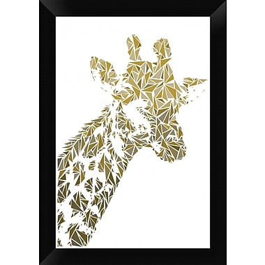 Naxart 'Giraffe' Framed Graphic Art Print on Canvas; 20'' H x 14'' W x 1.5'' D