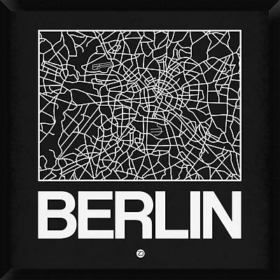 Naxart 'Black Map of Berlin' Framed Graphic Art Print on Canvas; 32'' H x 32'' W x 1.5'' D