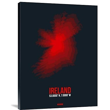 Naxart 'Ireland Radiant Map 1' Graphic Art Print on Canvas; 32'' H x 24'' W x 1.5'' D