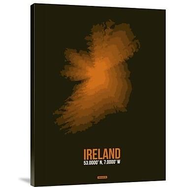 Naxart 'Ireland Radiant Map 3' Graphic Art Print on Canvas; 32'' H x 24'' W x 1.5'' D