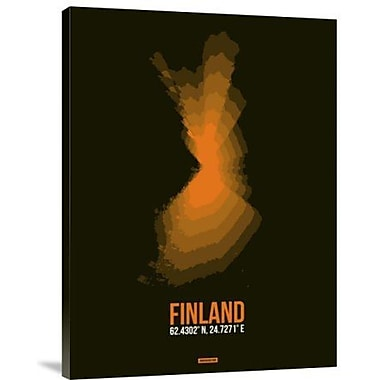 Naxart 'Finland Radiant Map 2' Graphic Art Print on Canvas; 16'' H x 12'' W x 1.5'' D