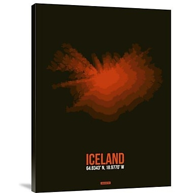 Naxart 'Iceland Radiant Map 1' Graphic Art Print on Canvas; 16'' H x 12'' W x 1.5'' D