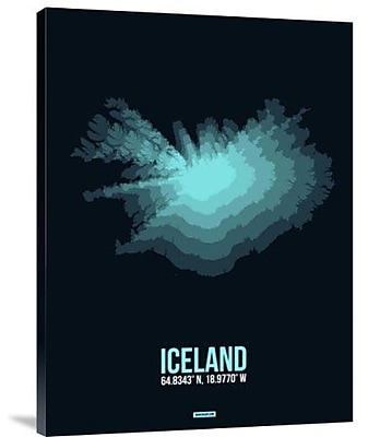Naxart 'Iceland Radiant Map 2' Graphic Art Print on Canvas; 16'' H x 12'' W x 1.5'' D