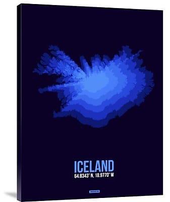 Naxart 'Iceland Radiant Map 3' Graphic Art Print on Canvas; 40'' H x 30'' W x 1.5'' D
