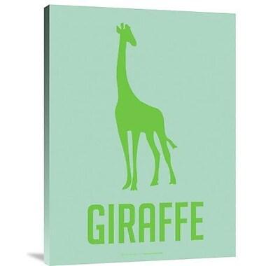 Naxart 'Giraffe Green' Graphic Art Print on Canvas; 40'' H x 30'' W x 1.5'' D