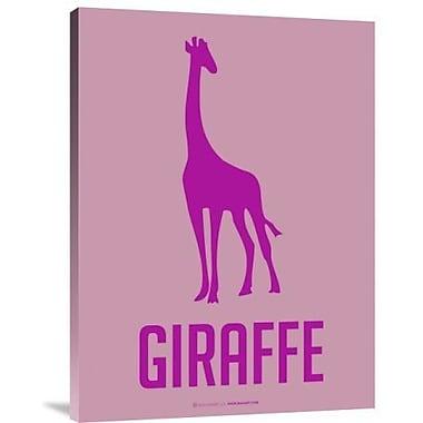 Naxart 'Giraffe Pink' Graphic Art Print on Canvas; 40'' H x 30'' W x 1.5'' D