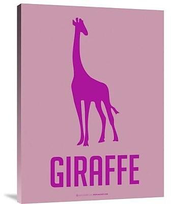 Naxart 'Giraffe Pink' Graphic Art Print on Canvas; 16'' H x 12'' W x 1.5'' D