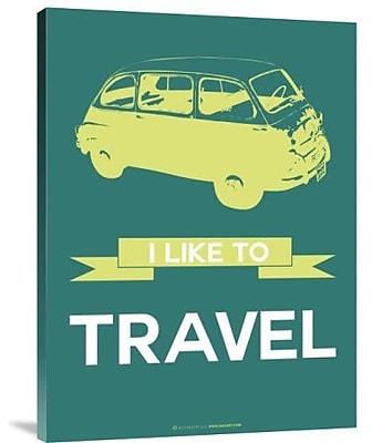 Naxart 'I Like to Travel 1' Graphic Art Print on Canvas; 16'' H x 12'' W x 1.5'' D