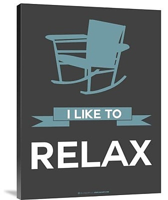 Naxart 'I Like to Relax 1' Graphic Art Print on Canvas; 40'' H x 30'' W x 1.5'' D