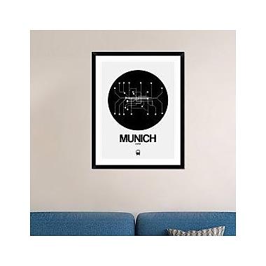 Naxart 'Munich Black Subway Map' Framed Graphic Art Print; 38'' H x 30'' W x 1.5'' D