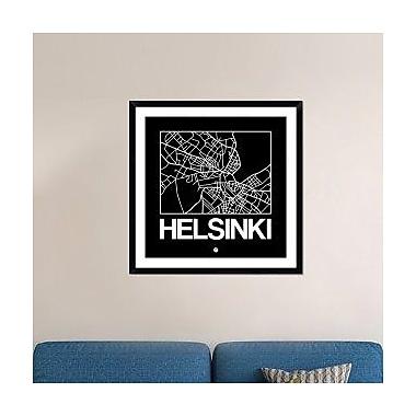 Naxart 'Black Map of Helsinki' Framed Graphic Art Print; 36'' H x 36'' W x 1.5'' D