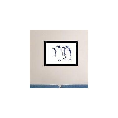 Naxart 'Penguins' Framed Graphic Art Print; 18'' H x 24'' W x 1.5'' D