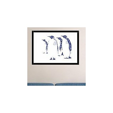 Naxart 'Penguins' Framed Graphic Art Print; 26'' H x 36'' W x 1.5'' D