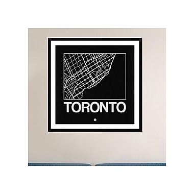 Naxart 'Black Map of Toronto' Framed Graphic Art Print; 42'' H x 42'' W x 1.5'' D