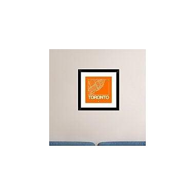 Naxart 'Orange Map of Toronto' Framed Graphic Art Print; 18'' H x 18'' W x 1.5'' D