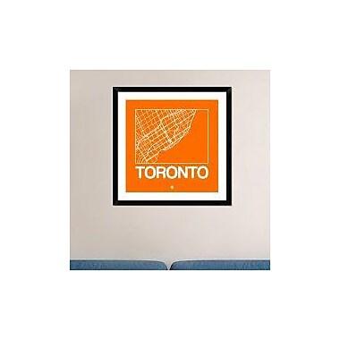 Naxart 'Orange Map of Toronto' Framed Graphic Art Print; 30'' H x 30'' W x 1.5'' D