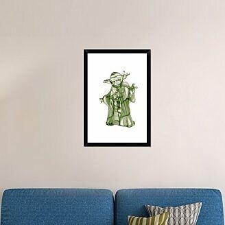 Naxart 'Yoda' Framed Graphic Art Print on Canvas; 32'' H x 22'' W x 1.5'' D