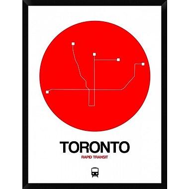 Naxart 'Toronto Red Subway Map' Framed Graphic Art Print on Canvas; 42'' H x 32'' W x 1.5'' D