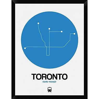 Naxart 'Toronto Blue Subway Map' Framed Graphic Art Print on Canvas; 34'' H x 26'' W x 1.5'' D
