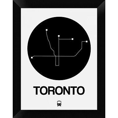 Naxart 'Toronto Black Subway Map' Framed Graphic Art Print on Canvas; 18'' H x 14'' W x 1.5'' D