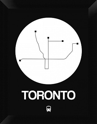 Naxart 'Toronto White Subway Map' Framed Graphic Art Print on Canvas; 18'' H x 14'' W x 1.5'' D