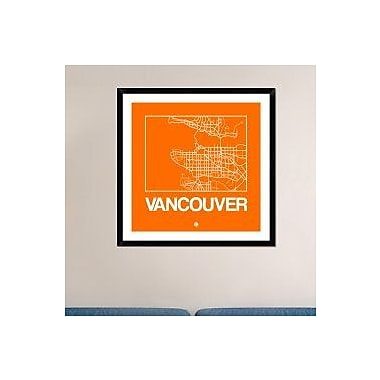 Naxart 'Orange Map of Vancouver' Framed Graphic Art Print; 36'' H x 36'' W x 1.5'' D