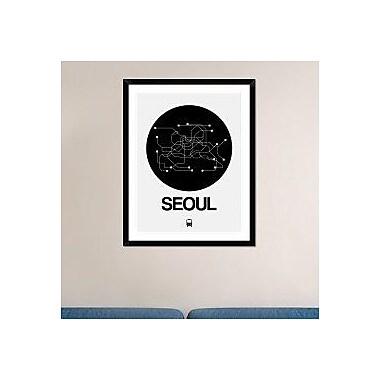 Naxart 'Seoul Black Subway Map' Framed Graphic Art Print; 38'' H x 30'' W x 1.5'' D