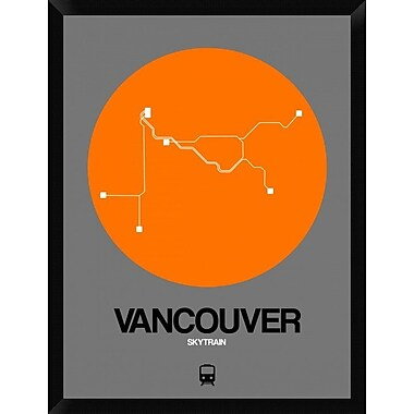 Naxart 'Vancouver Orange Subway Map' Framed Graphic Art Print on Canvas; 34'' H x 26'' W x 1.5'' D