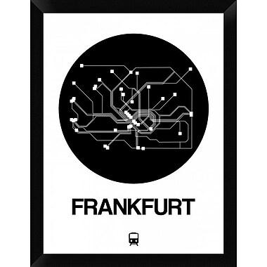 Naxart 'Frankfurt Black Subway Map' Framed Graphic Art Print on Canvas; 26'' H x 20'' W x 1.5'' D
