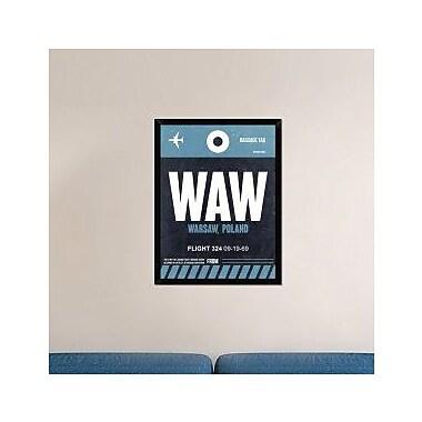 Naxart 'WAW Warsaw Luggage Tag II' Framed Graphic Art Print on Canvas; 34'' H x 26'' W x 1.5'' D
