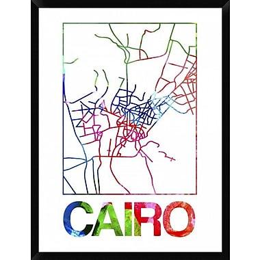 Naxart 'Cairo Watercolor Street Map' Framed Graphic Art Print on Canvas; 42'' H x 32'' W x 1.5'' D