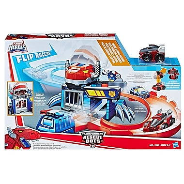Playskool Heroes Transformers Rescue Bots Flip Racers Chomp and Chase Raceway