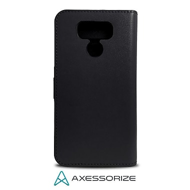 Axessorize Folio Cell Phone Wallet Case for LG G6, Black (FOLLGG6N)