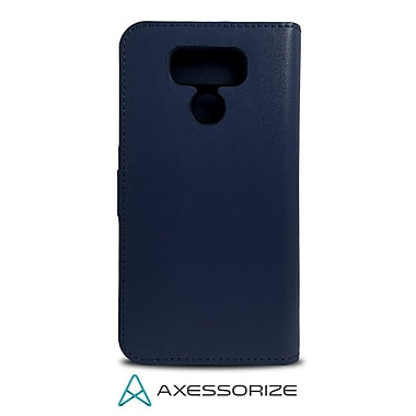 Axessorize Folio Cell Phone Wallet Case for LG G6, Blue (FOLLGG6B)