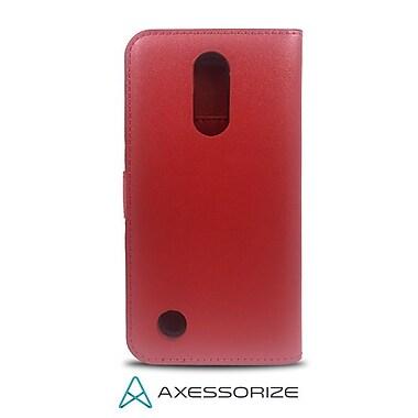 Axessorize - Etui Folio Wallet pour cellulaire LG K4, rouge ( FOLLGLV1R)