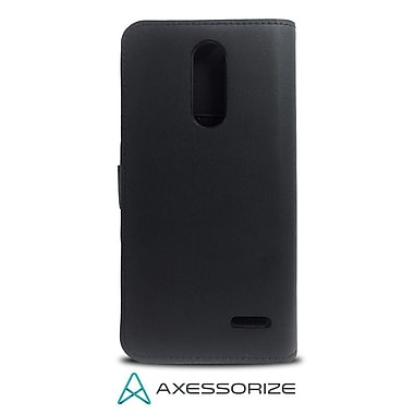 Axessorize Folio Cell Phone Wallet Case for ZTE Grand X 4, Black (FOLGX4N)