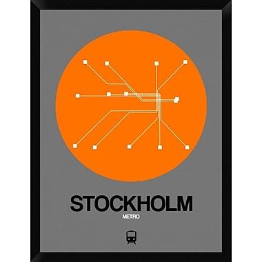 Naxart 'Stockholm Orange Subway Map' Framed Graphic Art Print on Canvas; 34'' H x 26'' W x 1.5'' D