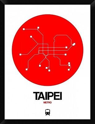 Naxart 'Taipei Red Subway Map' Framed Graphic Art Print on Canvas; 34'' H x 26'' W x 1.5'' D
