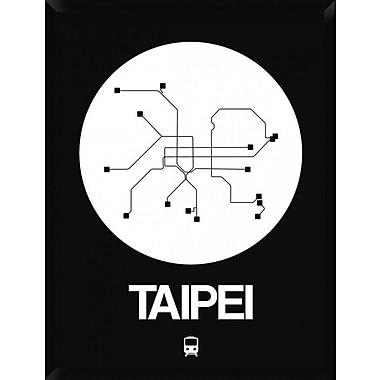 Naxart 'Taipei White Subway Map' Framed Graphic Art Print on Canvas; 42'' H x 32'' W x 1.5'' D