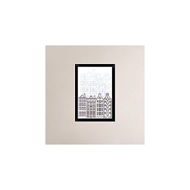 Naxart 'Amsterdam' Framed Graphic Art Print on Canvas; 26'' H x 18'' W x 1.5'' D