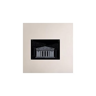 Naxart 'Athens Night' Framed Graphic Art Print on Canvas; 18'' H x 26'' W x 1.5'' D