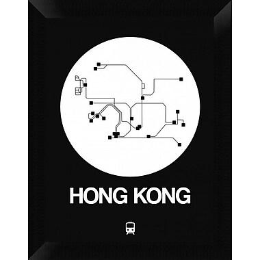 Naxart 'Hong Kong White Subway Map' Framed Graphic Art Print on Canvas; 18'' H x 14'' W x 1.5'' D