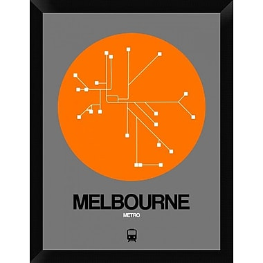 Naxart 'Melbourne Orange Subway Map' Framed Graphic Art Print on Canvas; 26'' H x 20'' W x 1.5'' D