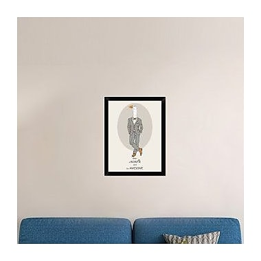 Naxart 'Goose in Pin Suit' Framed Graphic Art Print on Canvas; 26'' H x 20'' W x 1.5'' D