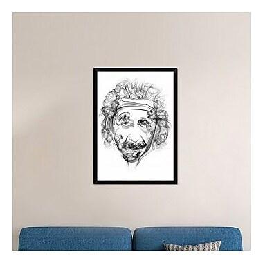 Naxart 'Albert Einstein' Framed Graphic Art Print on Canvas; 38'' H x 28'' W x 1.5'' D