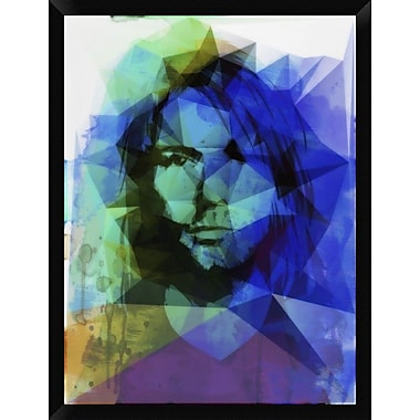 Naxart 'Kurt Geometrized' Framed Graphic Art Print on Canvas; 34'' H x 26'' W x 1.5'' D