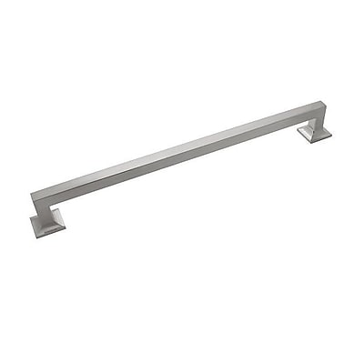 HickoryHardware Studio 12'' Center Bar Pull; Satin Nickel